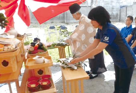 地鎮祭の玉串奉奠