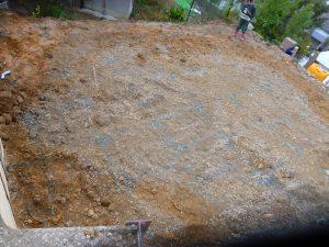 地盤改良工事!
