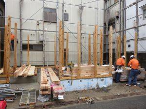 新築工事の棟上げを行いました!