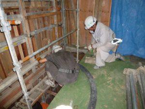 耐震補強工事、一段落一安心。