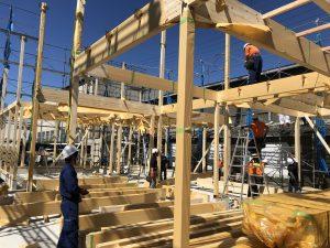 H社様新工場新築工事の建て方工事と上棟式を行いました。