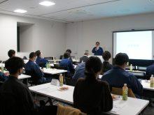 決算報告会及び経営方針発表会を行いました。
